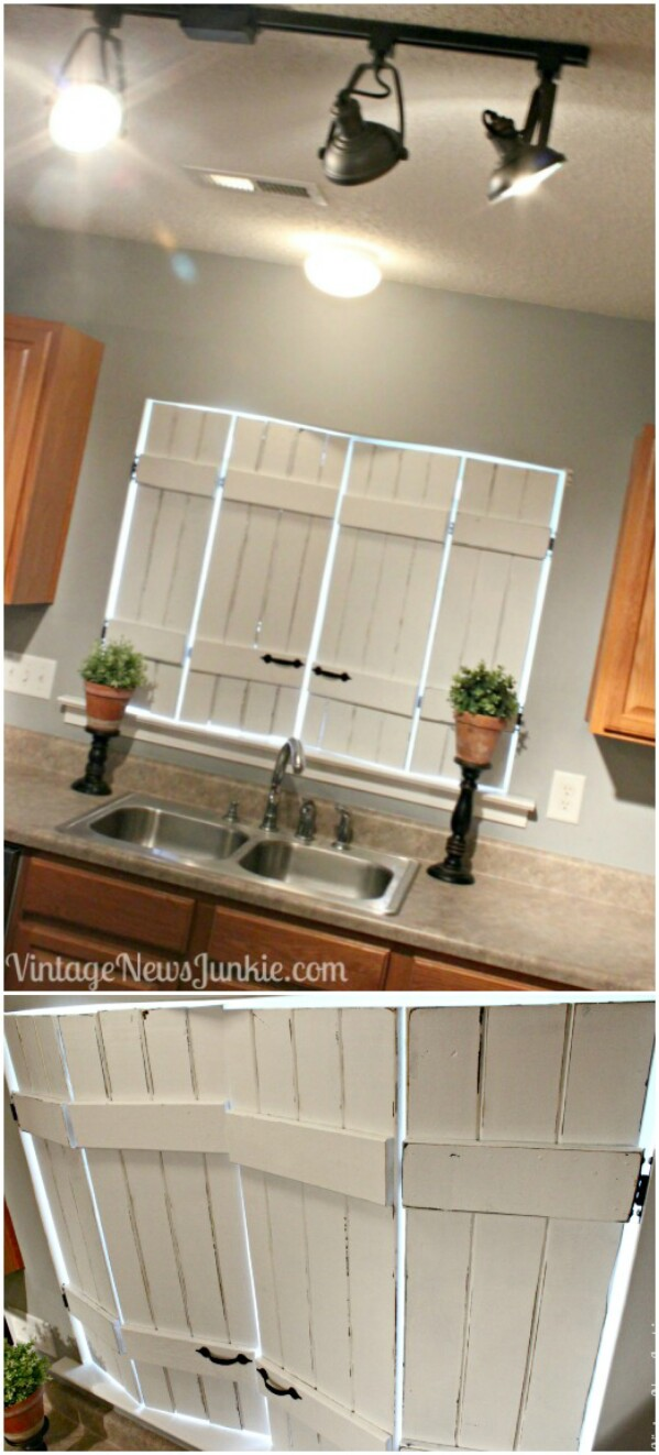 Upcycled Indoor Kitchen Shutters