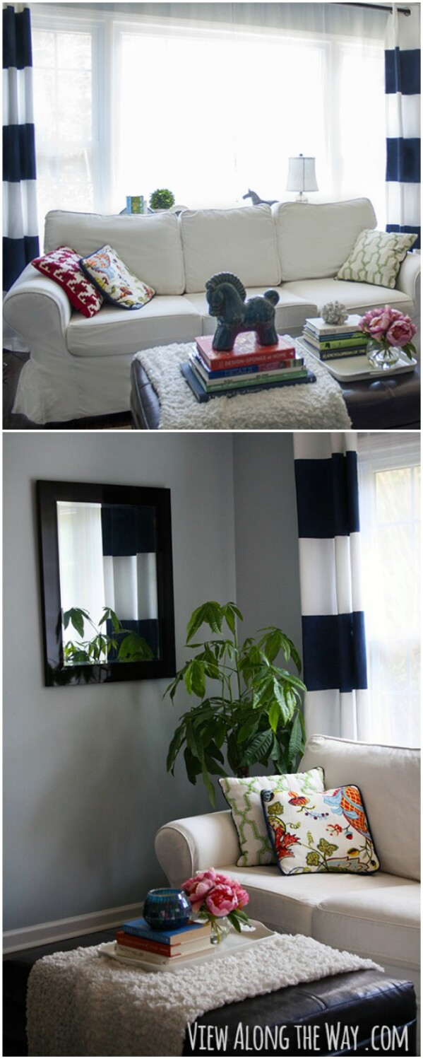 Washable Striped Curtains
